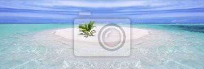 Papiers peints Île tropicale avec palmiers