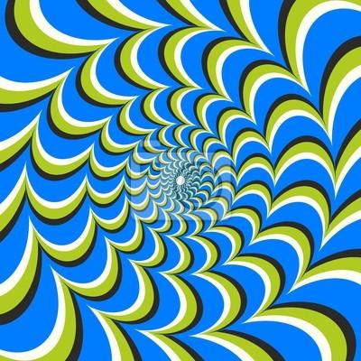 Illusion doptique ellipse tourbillon papier peint for Effet d optique 3d