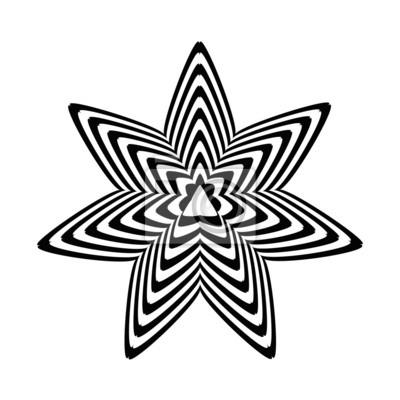 Illusion Doptique Geometrique Etoiles Noir Et Blanc Sur Un Fond