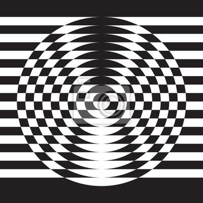 Illusion Optique Element De Dessin Geometrique Abstrait Papier