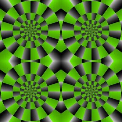 Papiers peints Illusion optique Spin Cycle, Vector Pattern Abstract Background.