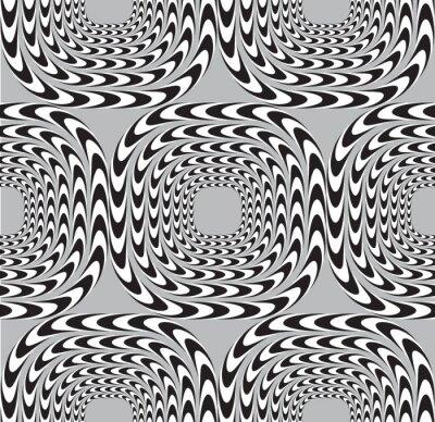 Papiers peints Illusion optique, vecteur de fond, seamless, équerres Mo