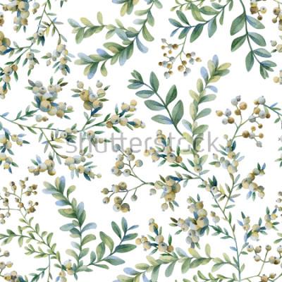 Papiers peints Illustration botanique Imprimé botanique. Modèle sans couture.