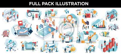 Papiers peints illustration business