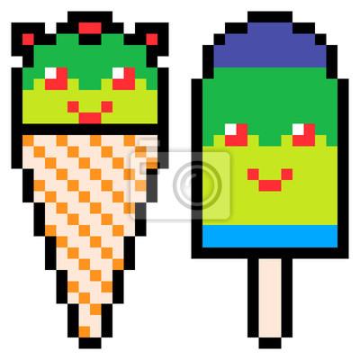 Papiers Peints Illustration Conception Pixel Art Glace Crème