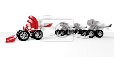 Illustration d'un meilleur symbole W-LAN dans une course de sport automobile