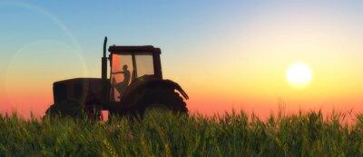 Papiers peints Illustration d'un tracteur circulant