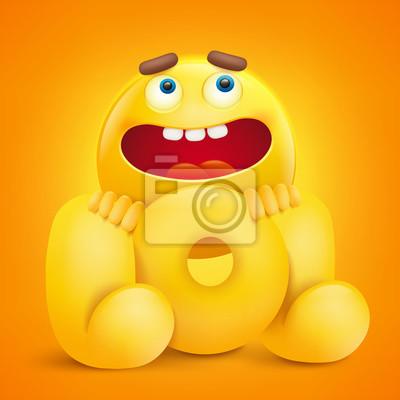 Illustration De Concept Lol Avec Personnage Emoji Jaune Papier