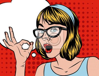 Illustration De Dessin Anime De Jolie Fille Vector Dans Un Style