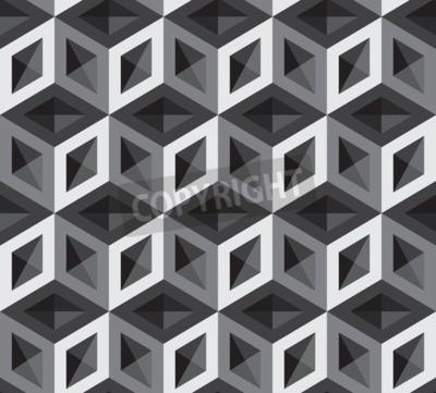 Papiers peints Illustration de motif de cubes 3D. Contexte et toile de fond.