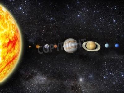 Papiers peints Illustration de notre système solaire - 3D REnder Maps from http planetpixelemporium com