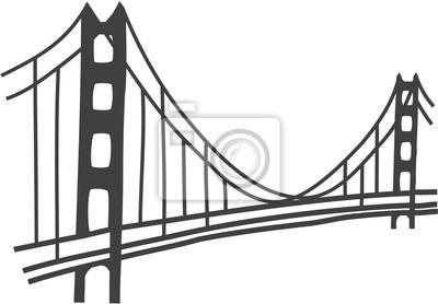 Dessin Du Pont De San Francisco illustration de pont golden gate, san francisco papier peint