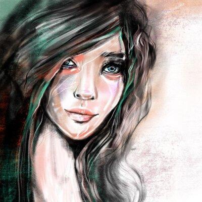 Papiers peints Illustration de portrait