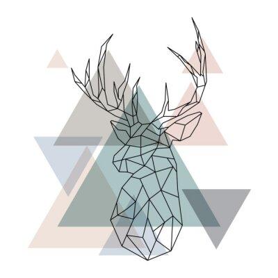 Papiers peints Illustration géométrique des rennes