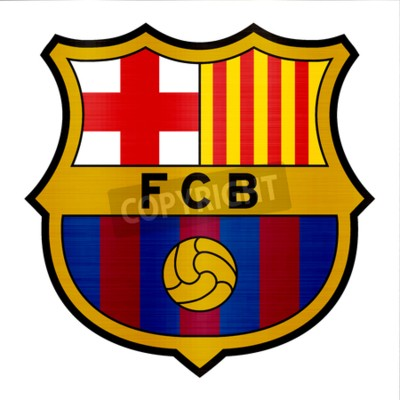 Papiers peints illustration logo métallique de Barcelone