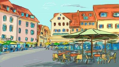 Illustration tirée de la vieille ville