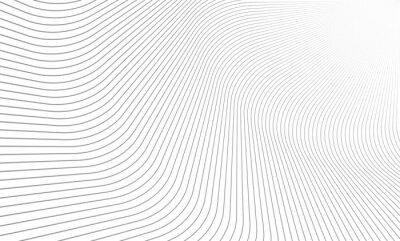 Papiers peints Illustration vectorielle du motif de lignes grises sur fond blanc. EPS10.