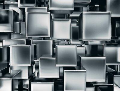 Papiers peints image abstraite de cubes de fond en métal