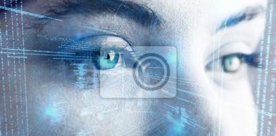 Papiers peints Image composite d'illustration de données virtuelles