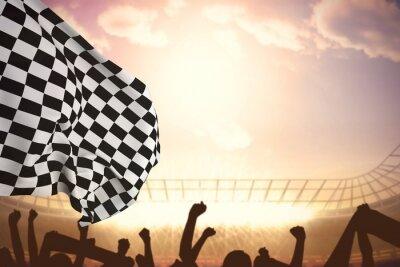 Papiers peints Image composite de drapeau à damier