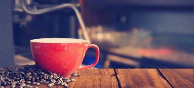 Papiers peints Image composite de tasse de café blanc
