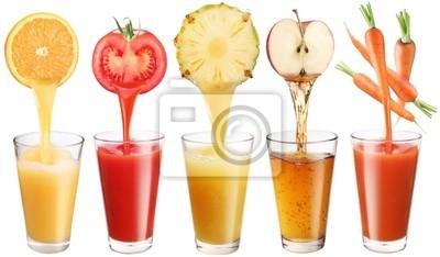 Image conceptuel - jus frais déverse de fruits et légumes