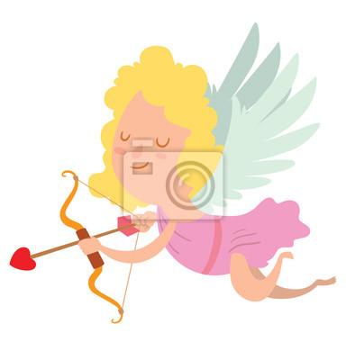 Papiers Peints Image De Dessin Animé De Mignonne Petite Fille De Cupidon Avec