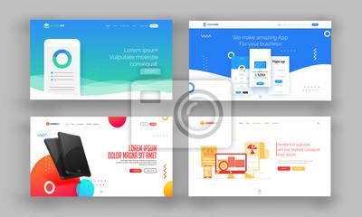 Papiers peints Image de site Web ou ensemble de pages de destination.