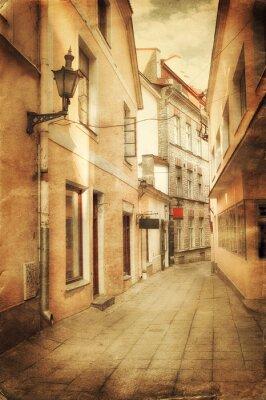 Papiers peints Image de style rétro de la vieille rue européenne