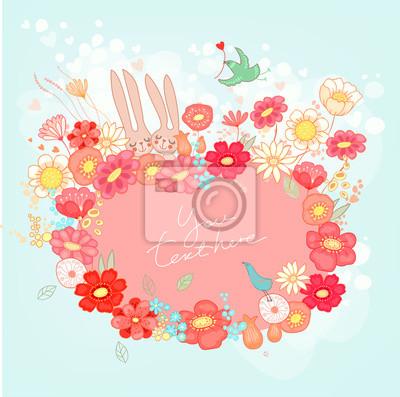Image romantique avec des lapins