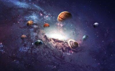 Papiers peints Images haute résolution présente la création de planètes du système solaire. Cette image est fournie par la NASA
