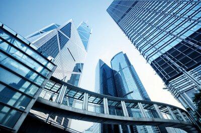 Papiers peints Immeubles de bureaux modernes à Hong Kong.