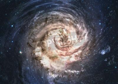 Papiers peints Incroyablement belle galaxie spirale quelque part dans l'espace profond.