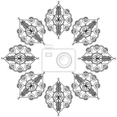Indian forme de fleur avec des éléments inspirés de tatouage au henné