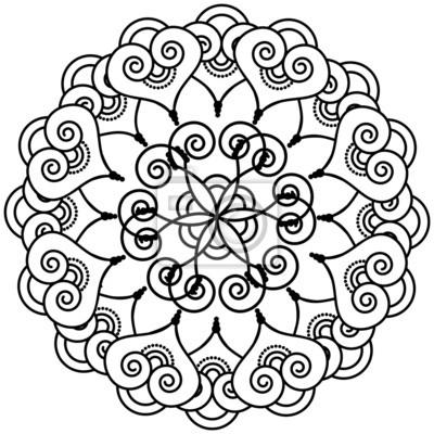 Indian tatouage au henné fleur inspiré étoiles floral