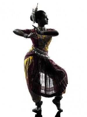 Papiers peints indien danseuse danse silhouette