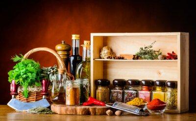 Papiers peints Ingrédients de cuisine, épices et herbes