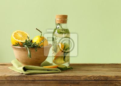 ingrédients detox boisson de concombre et de citron
