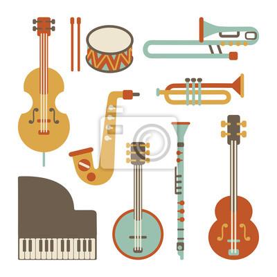 instruments de jazz fixés. isolé sur blanc