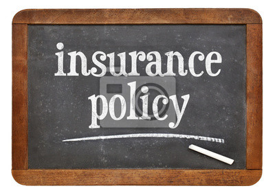 Papiers peints insurance policy text on blackboard