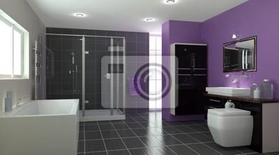 Intérieur de salle de bains contemporaine