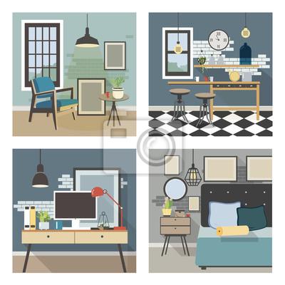 Interieur Moderne Dans Un Style Loft Papier Peint Papiers Peints