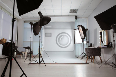 Papiers peints Interior of modern photo studio with professional equipment