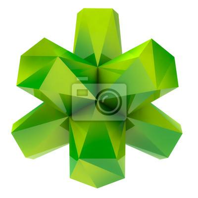 isolé vert frais triangulaire abstrait objet fond de forme