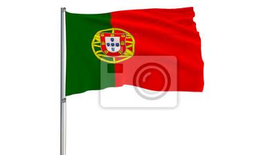 Isoler le drapeau du portugal sur un m t de drapeau - Drapeau portugais a imprimer ...