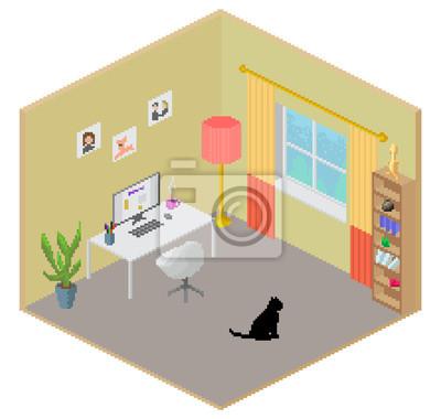 Isométrique intérieur de la chambre