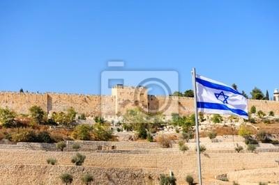 Papiers peints Israël Drapeau
