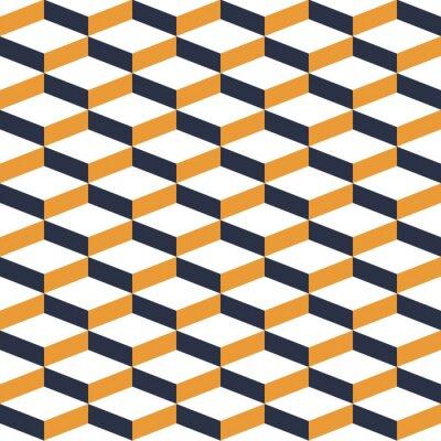 Papiers peints Jaune, géométrique, illusion, seamless, modèle