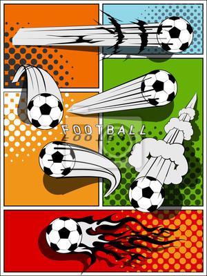 Jeu de foot - style bande dessinée