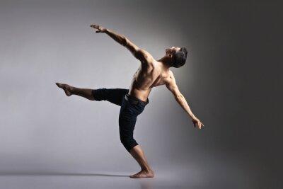 Papiers peints Jeune et élégant danseur de ballet moderne